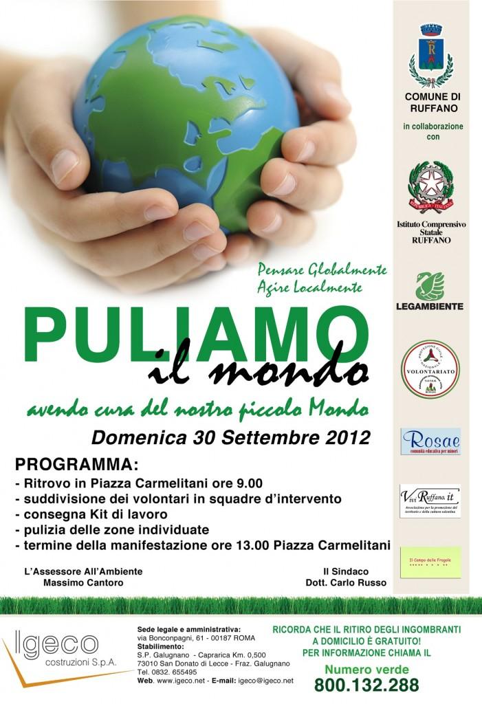 Ruffano giornata ecologica 2012 Puliamo il mondo
