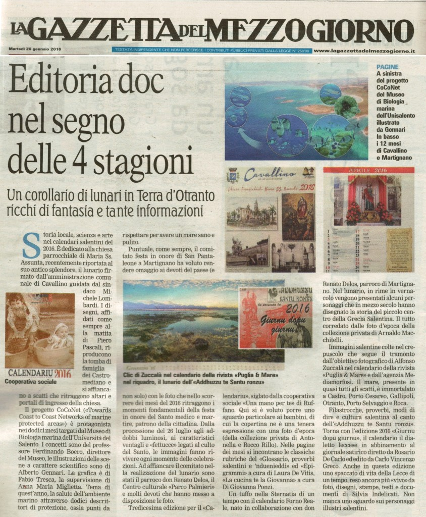 articolo La Gazzetta del Mezzogiorno1