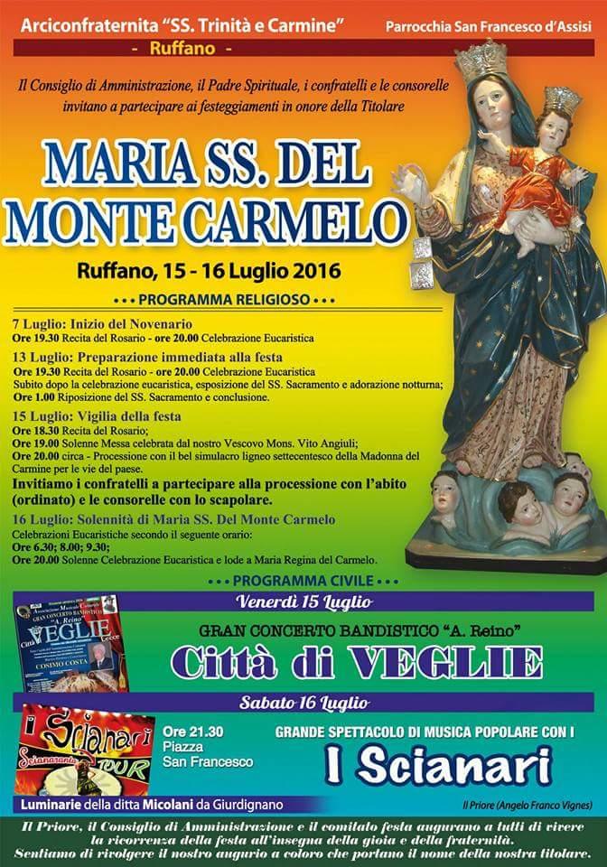 Ruffano 15 e 16 Luglio festa Madonna del Monte Carmelo